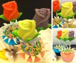 【by Joanne Stylish Baking】朱古力玫瑰花盆栽Cupcake製作班
