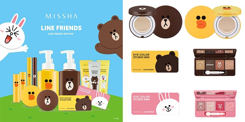 【MISSHA x Line friends 大玩色彩妝品】