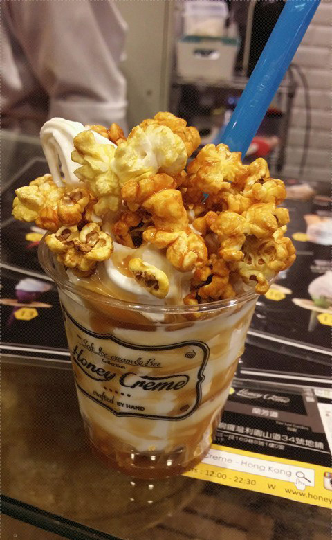 Honey-Crème-pop-corn